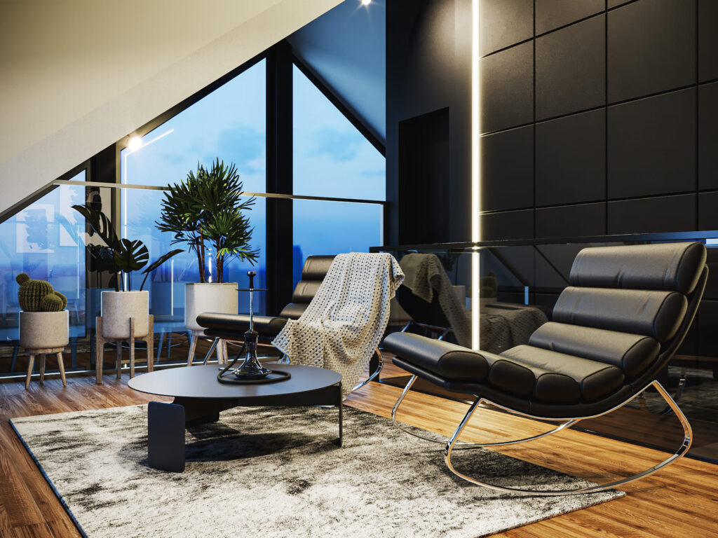 визуализация комнаты отдыха