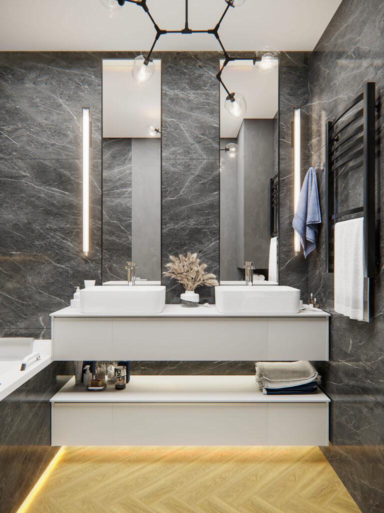 Визуализация ванной комнаты 15м²